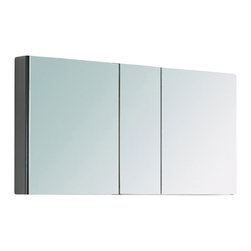 Fresca - Fresca FMC8013 50 Inches Wide Bathroom Medicine Cabinet With Mirrors - Fresca FMC8013 50 Inches Wide Bathroom Medicine Cabinet With Mirrors