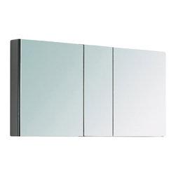 Fresca - Fresca FMC8010 40 Inches Wide Bathroom Medicine Cabinet With Mirrors, Mirror, 50 ...