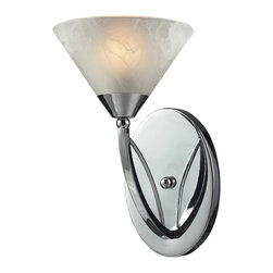 ELK Lighting - ELK Lighting 17020/1 Elysburg 1 Light Bathroom Vanity Lights in Polished Chrome - This 1 light Vanity from the Elysburg collection by ELK will enhance your home with a perfect mix of form and function. The features include a Polished Chrome finish applied by experts. This item qualifies for free shipping!
