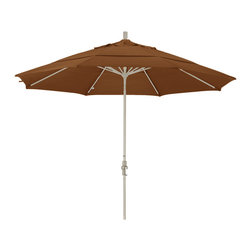 California Umbrella - 11 Foot Olefin Fabric Aluminum Crank Lift Collar Tilt Patio Umbrella, Sand Pole - California Umbrella, Inc. has been producing high quality patio umbrellas and frames for over 50-years. The California Umbrella trademark is immediately recognized for its standard in engineering and innovation among all brands in the United States. As a leader in the industry, they strive to provide you with products and service that will satisfy even the most demanding consumers.
