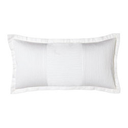"""Charisma - Charisma Isabella Pintucked Pillow, 12"""" x 24"""" - Pintucked """"Isabella"""" bed linens come in an array of colors, as do """"Madison"""" 450-thread-count sheeting finished with tuck detail on the 5"""" cuff . """"Como"""" matelasse accessories, made in Portugal, come in ivory or white. All of cotton. By Charisma®. F..."""