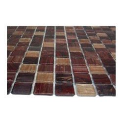 "Pomegranite Blend Glass Tile - sample-POMEGRANITE GLASS TILE 1/4 SHEET SAMPLE You are purchasing a 1/4 sheet sample measuring approximately 6"" x 6"". Samples are intended for color comparison purposes, not installation purposes. -Glass Tile -"