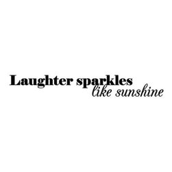 "Diecuts With A View - Laughter Sparkles Like Sunshine Vinyl Wall Decal Set - Vinyl wall decal set provides a sweet sentiment with, ""Laughter sparkles like sunshine."" Wall lettering is customizable to fit your space and resembles hand painting."