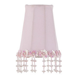 Jubilee Collection - Sconce Shade - Pearl Flower - Pink - Material: silk, metal. 2 x 3 x 4 in.