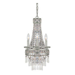 Crystorama Lighting - Crystorama Lighting 5263-OS-CL-MWP Mercer Transitional/Eclectic Mini Chandelier - Crystorama Lighting 5263-OS-CL-MWP Mercer Transitional / Eclectic Mini Chandelier In Olde Silver With Clear Hand Cut Crystal