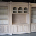 Media Niches - Shown unfinished, cabinet is not stained