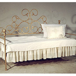 Daybed With Rails - I love the extremely whimsical design of this iron daybed.
