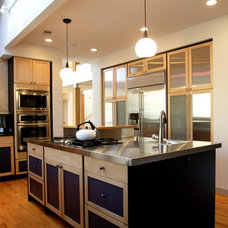 Transitional Kitchen by DuBro Architects + Builders