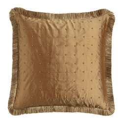 Sweet Dreams - Beaded Silk European Sham with Fringe - GOLD (EUROPEAN) - Sweet DreamsBeaded Silk European Sham with FringeDesigner About Sweet Dreams:For over 25 years this family-owned company has been a leader in opulent luxury bedding and decorative pillows. Recognized as an innovator in heirloom-quality home textiles Sweet Dreams creates collections of true elegance and aesthetic beauty using made-in-USA craftsmanship and choice fabrics from around the world.