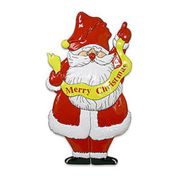 Four Seasons - Merry Christmas Decoration Santa Wall Accent Door Plaque - FEATURES: