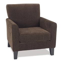 Avenue Six - Avenue Six Sierra Chair - Avenue Six - Club Chairs - SRA51C47 - The Sierra Collection is comprised of a Love Seat Chair and matching Ottoman. The collection features solid wood legs extra thick cushion back sinuous springs and box spring seat.