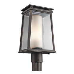 Kichler - Kichler Lindstrom Outdoor Post/Pier in Bronze - Shown in picture: Outdoor Post Mt 1-Light in Rubbed Bronze
