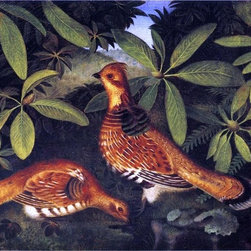 "Rubens Peale Two Ruffed Grouse - 18"" x 24"" Premium Archival Print - 18"" x 24"" Rubens Peale Two Ruffed Grouse premium archival print reproduced to meet museum quality standards. Our museum quality archival prints are produced using high-precision print technology for a more accurate reproduction printed on high quality, heavyweight matte presentation paper with fade-resistant, archival inks. Our progressive business model allows us to offer works of art to you at the best wholesale pricing, significantly less than art gallery prices, affordable to all. This line of artwork is produced with extra white border space (if you choose to have it framed, for your framer to work with to frame properly or utilize a larger mat and/or frame).  We present a comprehensive collection of exceptional art reproductions byRubens Peale."