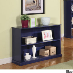 K and B Furniture Co Inc - Children's 2-tier Bookcase - Two wide shelves provide plentiful storage space for favorite games or bedtime stories in this contemporary bookcase. Ideal for a child's bedroom or playroom,this open-front bookcase is available in several fun colors.