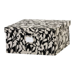 Working Class Studio - Re-Gift Collection Leaf Box, Black, Leaf - A package as pretty as this is bound to build excitement for whatever present you put inside. Plus, post gifting, the box makes great storage for mementos, photos, etc.