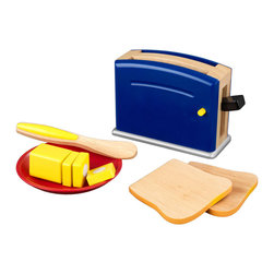 Gemma Primary Toaster Set by Kidkraft - Children often want to help their parents in the kitchen. With our new Primary Toaster Set your young helpers will be able to take care of the toast all on their own! The bright colors and rich details of this wooden 9-piece set are sure to keep imaginations running wild.