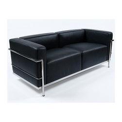 Modern Classics - Le Corbusier: LC3 Grande Loveseat Reproduction - Features: