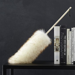 Wool Duster - From a family-owned rural Missouri company, this two-foot duster is crafted of premium U.S. lambswool, which naturally lures dust as it babies your prized furnishings, moldings and antiques. Safe for use on any finish, this natural duster is finished with a birch handle and leather hanging strap.