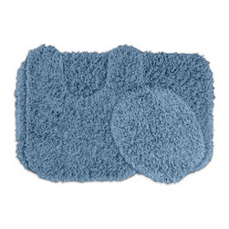 Sands Rug - Quincy Super Shaggy Washable Runner Bath Rug (Set of 3) - Jazz up your bathroom, shower room, or spa with a bright note of color while adding comfort you can sink your toes into with the Quincy Super Shaggy bathroom collection.  Each piece, whether a bath runner, bath mat or contoured rug, is created from soft, durable, machine-washable nylon. Floor rugs are backed with skid-resistant latex for safety.