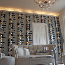 Contemporary Wine Cellar by JDS DESIGNS