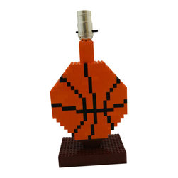 MR Brick Designer - Basketball LEGO Lamp - A unique gift for an NBA or NCAA College basketball fan, league player, or someone who loves LEGO! Add some fun to any space with this basketball lamp made from LEGO ® elements!