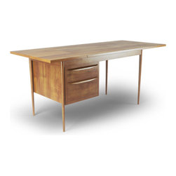 Moore Desk - The Moore desk is the perfect combination of Mid-Century style and functional storage. So many desks either seem to have one or the other - this is the whole package.
