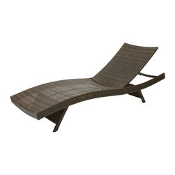 Great Deal Furniture - Lakeport Outdoor Wicker Lounge - It's time to stack the deck in your favor. This graceful lounger will give you all the advantages you need to thoroughly enjoy summer on the patio. Smooth, soft wicker is kind to sun exposed skin. The shape cradles your body curves for complete comfort. And it folds up easily so you can stack more than one on your deck for future use.