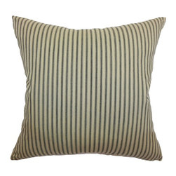 Pillow Collection Inc - The Pillow Collection Dani Stripes Pillow - Tangerine Grey Multicolor - P18-MVT- - Shop for Pillows from Hayneedle.com! The Pillow Collection Dani Stripes Pillow - Tangerine Grey is the ideal accessory to add a bit of flair to your couch or loveseat. Striped in design the soft cotton material of this pillow features a plush feather-down insert. A clean knife-edge finish distinguishes all four sides of the reversible cover and includes a hidden zipper for easy removal and cleaning. Dry cleaning recommended.About The Pillow CollectionIdentical twin brothers Adam and Kyle started The Pillow Collection with a simple objective. They wanted to create an extensive selection of beautiful and affordable throw pillows. Their father is a renowned interior designer and they developed a deep appreciation of style from him. They hand select all fabrics to find the perfect cottons linens damasks and silks in a variety of colors patterns and designs. Standard features include hidden full-length zippers and luxurious high polyester fiber or down blended inserts. At The Pillow Collection they know that a throw pillow makes a room.