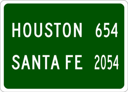 Contemporary Home Decor by City Limit Signs
