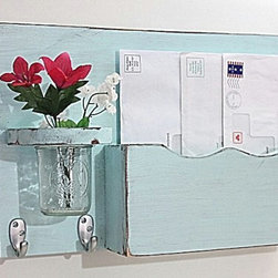 Mail Organizer by Old Wood Trader - Organize mail, display seasonal flowers and hang keys all on this one great piece.