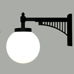 LOFT Iron and Glass Ball Wall Sconce -