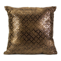 IMAX CORPORATION - Zuma Square Pillow - Simple repeating geometric patterns are all the craze. When mixed with an iridescent look in a neutral tone the Zuma square pillow is at home in a variety of decor. Find home furnishings, decor, and accessories from Posh Urban Furnishings. Beautiful, stylish furniture and decor that will brighten your home instantly. Shop modern, traditional, vintage, and world designs.