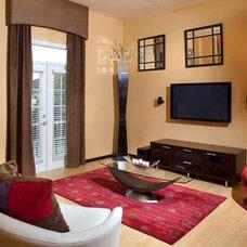 Contemporary Living Room by Andrea Lauren Elegant Interiors
