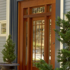 traditional front doors by Point One Architects