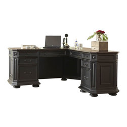 Riverside Furniture - Riverside Furniture Allegro L-Desk and Return in Rubbed Black - Riverside Furniture - Home Office Desks - 44728 - Riverside's products are designed and constructed for use in the home and are generally not intended for rental, commercial, institutional or other applications not considered to be household usage.