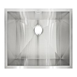 LessCare - Zero-Radius Undermount Stainless Steel Single Basin Kitchen Sink LP1 - *Condition: New