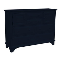 EuroLux Home - New Chest of Drawers Black Painted Hardwood - Product Details