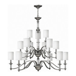 Hinkley Lighting - Hinkley Lighting 4799BN Sussex Brushed Nickel 15 Light Chandelier - Hinkley Lighting 4799BN Sussex Brushed Nickel 15 Light Chandelier