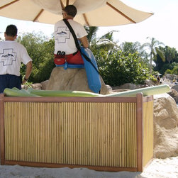 Decorative Boards - Faux Bamboo Poles are ideal for bamboo backdrops for signs, decorative walls in spas, restaurants, retailers, homes or offices.