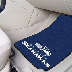 Fanmats - Fanmats Seattle Seahawks 2-piece Carpeted Nylon Car Mats - Seattle Seahawks fans will enjoy using these carpeted car mats in their cars, trucks, and SUVs. The set features mats for the driver and front passenger floors and come with the Seahawks logo and colors. They are made out of durable nylon.