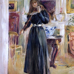 """Berthe Morisot Julie Playing a Violin - 16"""" x 20"""" Premium Archival Print - 16"""" x 20"""" Berthe Morisot Julie Playing a Violin premium archival print reproduced to meet museum quality standards. Our museum quality archival prints are produced using high-precision print technology for a more accurate reproduction printed on high quality, heavyweight matte presentation paper with fade-resistant, archival inks. Our progressive business model allows us to offer works of art to you at the best wholesale pricing, significantly less than art gallery prices, affordable to all. This line of artwork is produced with extra white border space (if you choose to have it framed, for your framer to work with to frame properly or utilize a larger mat and/or frame).  We present a comprehensive collection of exceptional art reproductions byBerthe Morisot."""