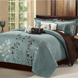 Bliss Garden 8-piece Sage Comforter Set