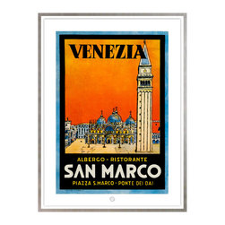 Studio Eight - HOTEL SAN MARCO, Venice, Golden Age of Travel Vintage Art Restoration Series - HOTEL SAN MARCO, VENICE.