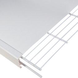 """Help MyShelf Made in USA - 1 Decorative Linen Closet / Pantry Shelf Kit, 20"""" - Help MyShelf™ is the fastest, easiest and most economical way to complete an amazing makeover of your wire shelves. Follow the simple instructions and Help MyShelf™ attaches to your existing wire shelves in minutes, creating an appealing, attractive and more stable shelf."""