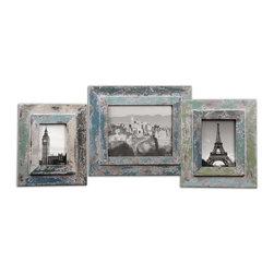 Uttermost - Uttermost Acheron Photo Frames, Set of 3 - 18560 - Uttermost's photo frames combine premium quality materials with unique high-style design.