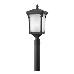 Hinkley Lighting - Hinkley Lighting HK-1351-MB Stratford Transitional Outdoor Post Lantern - Stratford offers a classic tapered square design in sturdy cast aluminum with generous panels of seedy linen glass. The classic finish options complement a variety of exteriors.