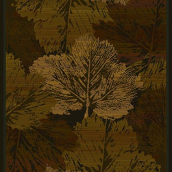 "United Weavers of America - United Weavers of America Genesis Fall Canvas Brown 5'3"" x 7'6"" Area Rugs - United Weavers of America Genesis Fall Canvas Brown 5'3"" x 7'6"" Area Rugs"