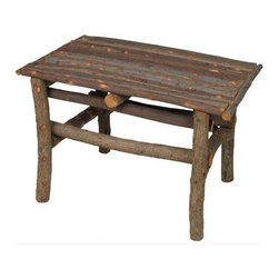 Mexican Artisans - Twig Table - Add rustic character to your sun room, bedroom, porch or patio with this durable, versatile, simply stylish accent table! For outdoor use we recommend coating with a quality weather sealing product every two years. As this table is expertly hand crafted in Mexico, expect variations in size and wood character.