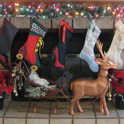 Christmas Stockings and Sleigh -
