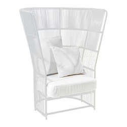 Varaschin - Varaschin Tibidabo Armchair, High - At Varaschin we re-discover history to create the future by merging ancient craft and modern aesthetic. Founded in 1969 when Ugo Varaschin laid the foundations of weaving wicker and rattan from exotic places with careful attention to detail and constant research into aesthetics. The turning point came when a group of internationally renowned designers became involved to create unique collections featuring essential elegance.